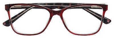 Armação Óculos Receituário AT 3001 Vermelho Transparente