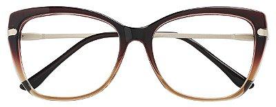 Armação Óculos Receituário AT 6350 Marrom Degradê