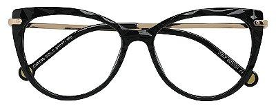 Armação Óculos Receituário AT 5596 Mosaico Redondo Preto