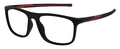 Armação Óculos Receituário AT 1032 Preto/Vermelho