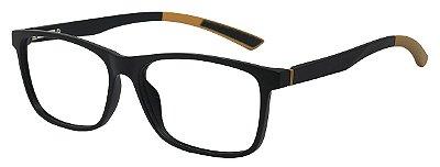 Armação Óculos Receituário AT 1023 Preto/Pardo