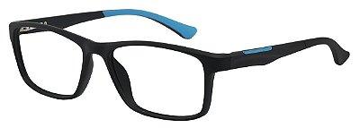 Armação Óculos Receituário AT 1026 Preto/Azul