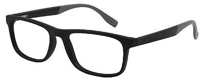 Armação Óculos Receituário AT 1022 Preto/Cinza