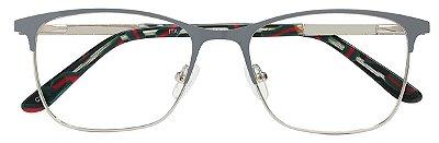 Armação Óculos Receituário AT 6517 Cinza/Prata