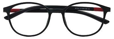 Armação Óculos Receituário AT 1041 Preto/Vermelho