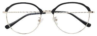 Armação Óculos Receituário AT 9130 Preto/Prata