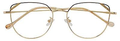 Armação Óculos Receituário AT 6030 Marrom/Dourado