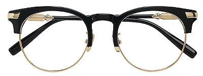 Armação Óculos Receituário AT 3003 Preto/Dourado
