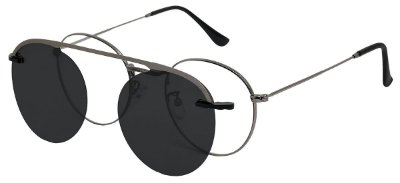 Armação Óculos Receituário e Sol 013 Clipon Chumbo com 1 Lente Polarizado