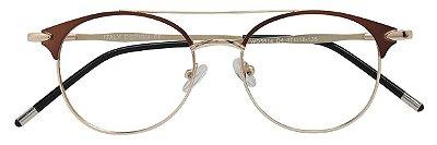 Armação Óculos Receituário AT 5514A Marrom/Dourado