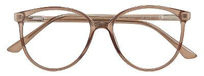 Armação Óculos Receituário AT 3343 Marrom Transparente