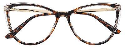 Armação Óculos Receituário AT 007 Tartaruga