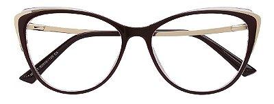Armação Óculos Receituário AT 011 Vinho