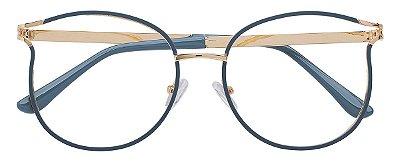 Armação Óculos Receituário AT 1787 Azul/Dourado