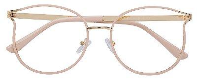 Armação Óculos Receituário AT 1787 Nude/Dourado