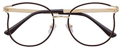 Armação Óculos Receituário AT 1787 Marrom/Dourado