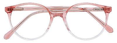 Armação Óculos Receituário AT 3344 Rosé Degradê