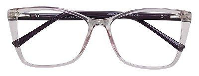 Armação Óculos Receituário AT 2041 Lilás Transparente