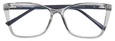 Armação Óculos Receituário AT 2041 Cinza Transparente