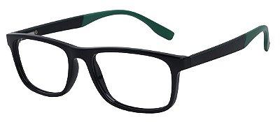 Armação Óculos Receituário AT 1022 Preto/Verde
