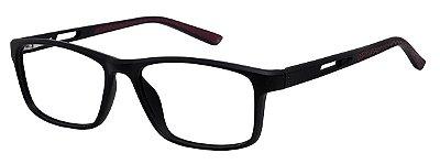 Armação Óculos Receituário AT 1004 Preto/Vermelho