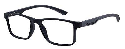 Armação Óculos Receituário AT 1025 Preto/Cinza