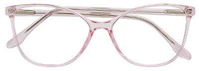 Armação Óculos Receituário AT 3332 Rose Transparente