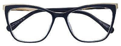 Armação Óculos Receituário AT 98136 Azul Metálico