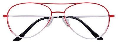 Armação Óculos Receituário Aviador AT 1982 Vermelho