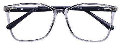 Armação Óculos Receituário AT 2035 Cinza Transparente