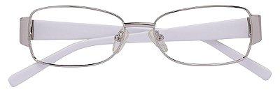 Armação Óculos Receituário AT 757 Prata/Branco