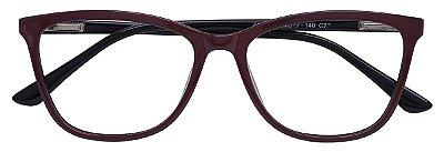 Armação Óculos Receituário AT 3339 Vinho/Preto