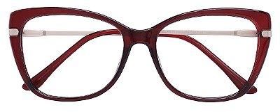 Armação Óculos Receituário AT 6350 Vermelho Transparente