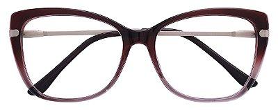 Armação Óculos Receituário AT 6350 Vinho Degradê