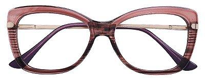Armação Óculos Receituário AT 6356 Marrom Transparente