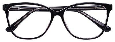 Armação Óculos Receituário AT 3330 Preto/Transparente