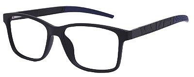 Armação Óculos Receituário AT 1057 Preto/Azul