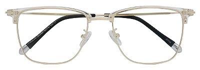 Armação Óculos Receituário AT 3104 Transparente/Dourado