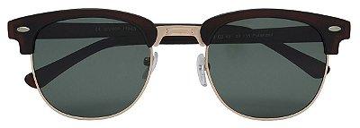 Óculos de Sol Clubmaster Unissex AT 1348 Marrom/Dourado