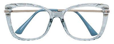 Armação Óculos Receituário AT 6029 Azul Transparente Mosaico