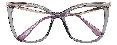 Armação Óculos Receituário AT 6015 Cinza Transparente