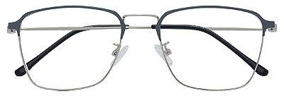 Armação Óculos Receituário AT 9136 Cinza/Prata
