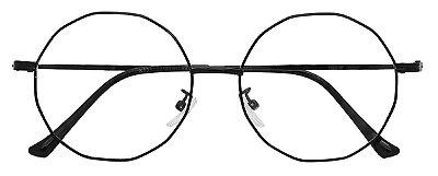 Armação Óculos Receituário AT 8838 Preto Hexagonal