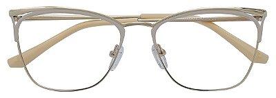 Armação Óculos Receituário AT 8381 Nude/Dourado