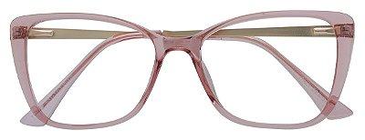 Armação Óculos Receituário AT 922 Rosé Transparente