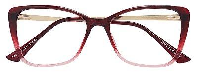 Armação Óculos Receituário AT 922 Vermelho Degradê