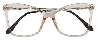 Armação Óculos Receituário AT 5514B Champagne Transparente