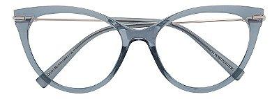 Armação Óculos Receituário AT 5603 Cinza Transparente