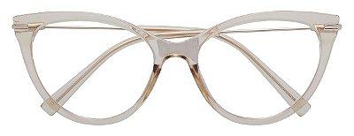 Armação Óculos Receituário AT 5603 Champagne Transparente