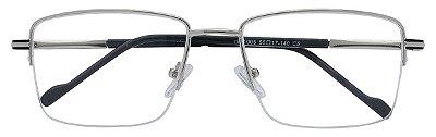 Armação Óculos Receituário AT 1005 Prata/Preto